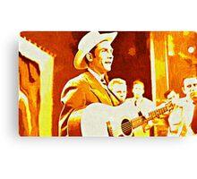 Hank Williams Pop Art Canvas Print