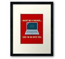 Character Building - Valentine Hacker Framed Print