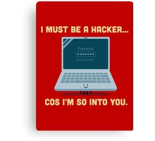 Character Building - Valentine Hacker Canvas Print