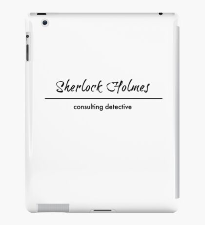 Sherlock Holmes - Consulting Detective iPad Case/Skin