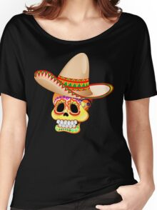Mexico Sugar Skull with Sombrero Women's Relaxed Fit T-Shirt