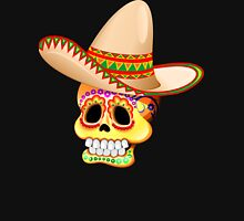 Mexico Sugar Skull with Sombrero Unisex T-Shirt