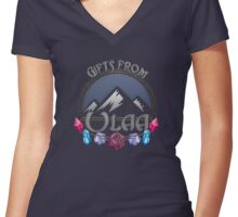 D&D Tee - Gifts of Ulaa Women's Fitted V-Neck T-Shirt