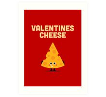 Character Building - Valentines cheese Art Print