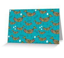 Colorful birds Greeting Card