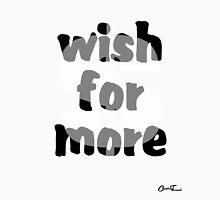 Moneywise - Wish for More Black on White Unisex T-Shirt