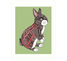 Patchy Rabbit Art Print