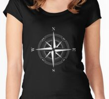 WHITE COMPASS Women's Fitted Scoop T-Shirt