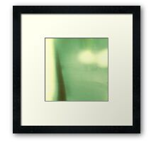 Green Abstract Modern Landscape, #redbubble Framed Print