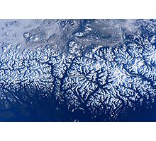 Space Station Flyover of British Columbia's Coast Mountains Photographic Print