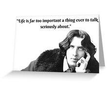 Oscar Wilde Witticisms Greeting Card
