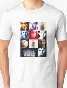 Once Upon a Time, emma swan, prince charming, snow white, hook, killian, rumpelstilskin, belle, red riding hood, red, OUAT character scarf Unisex T-Shirt