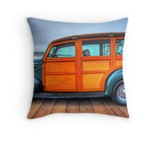 Classic Woody Panel El Frito Throw Pillow