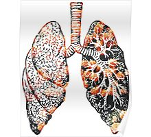 Lungs - Flowers  Poster