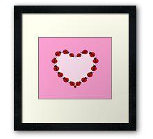 Lady Bug Heart Framed Print