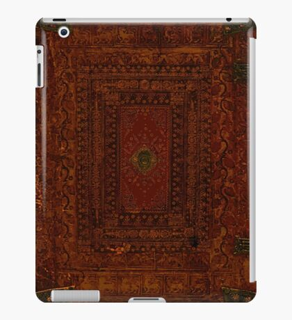 Rustic Engraved Leather Book Cover Design iPad Case/Skin