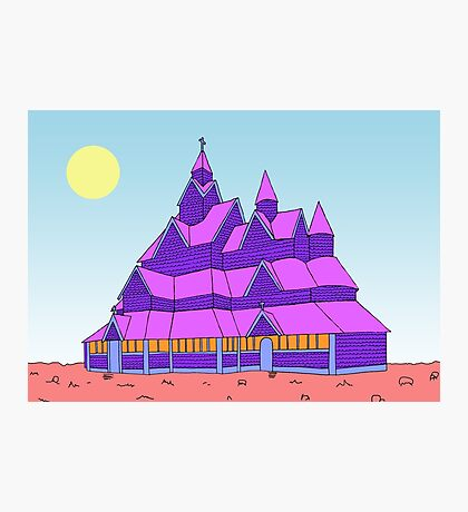 Heddal Stave Church Photographic Print
