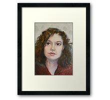 Ann - Portrait Of A Woman Framed Print