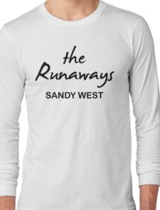 The Runaways Sandy West Long Sleeve T-Shirt
