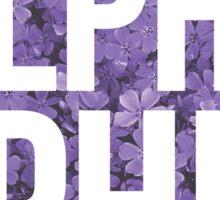alpha phi purple circle Sticker