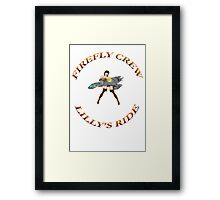 FIREFLY CREW  ''Lilly's Ride'' Framed Print