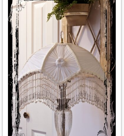 Bead Fringed Hand Stitched Lamp Shade Sticker