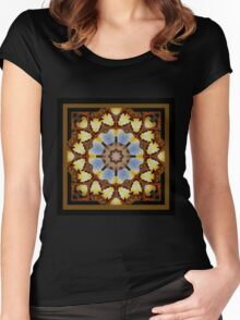 Through the Watcher's Window - Shawl Women's Fitted Scoop T-Shirt