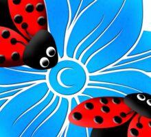 Ladybugs & Hibiscus Sticker
