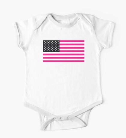 pink american flag One Piece - Short Sleeve