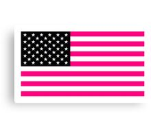 pink american flag Canvas Print