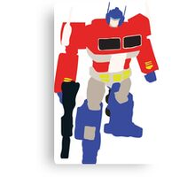 Optimus Prime Blocky Canvas Print