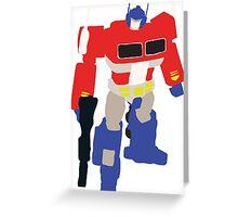 Optimus Prime Blocky Greeting Card