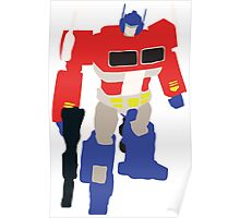 Optimus Prime Blocky Poster