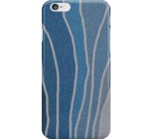 Flowing Blue Shapes iPhone Case/Skin