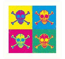 bright color skulls Art Print