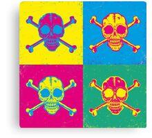 bright color skulls Canvas Print