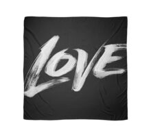 Bold White Love Word - Hand Lettering - Artistic Calligraphy for Valentine Scarf