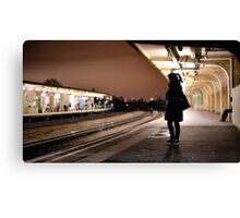 Chiswick Station Girl Canvas Print