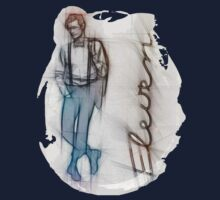 The Eleventh Doctor in Pencil Sketch Baby Tee