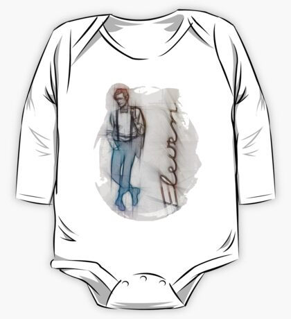 The Eleventh Doctor in Pencil Sketch One Piece - Long Sleeve