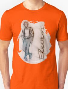 The Eleventh Doctor in Pencil Sketch Unisex T-Shirt