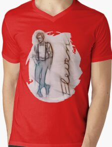 The Eleventh Doctor in Pencil Sketch Mens V-Neck T-Shirt