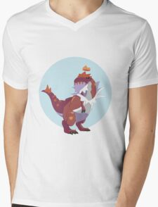 Queen Tyrantrum Mens V-Neck T-Shirt