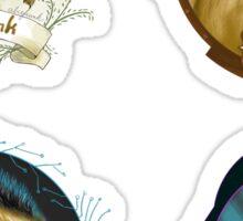 Chipmunk Puns - Whimsical Sticker Set Sticker