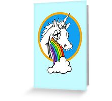 Drunk Unicorns Make Rainbows! Greeting Card