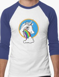 Drunk Unicorns Make Rainbows! Men's Baseball ¾ T-Shirt