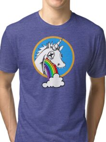 Drunk Unicorns Make Rainbows! Tri-blend T-Shirt
