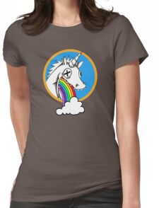 Drunk Unicorns Make Rainbows! Womens Fitted T-Shirt