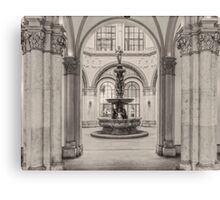 Indoor fountain Canvas Print