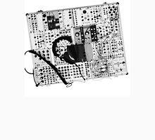 analog synthesizer illustration b&w - music equipment Unisex T-Shirt